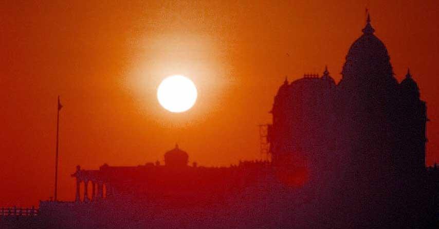 Sunrise at Vivakananda Mandir