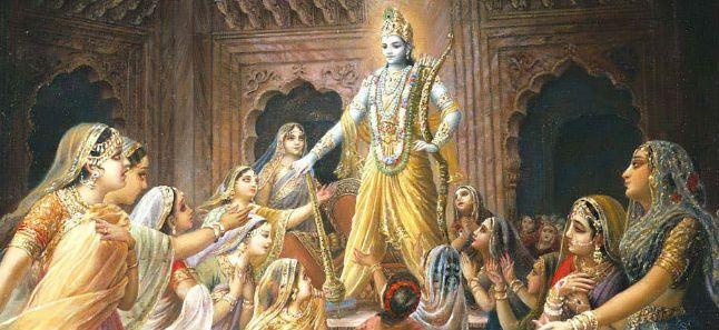 Krishna rescues the princesses